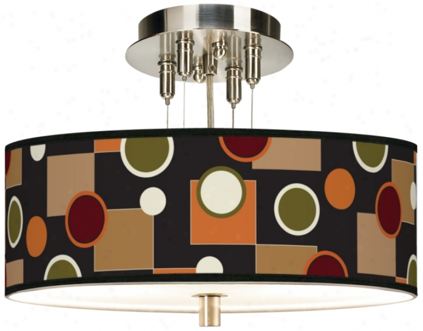 "Retro Medley Giclee 14"" Wide Ceiling Light (55369-j1809)"