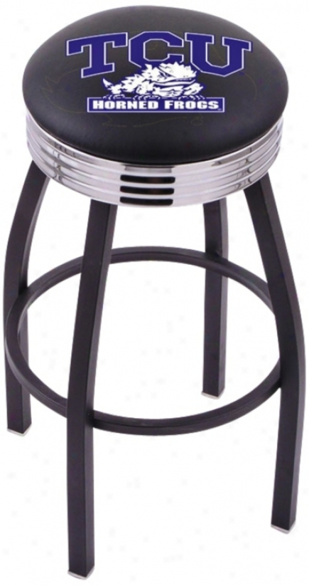 Retro Texas Christian University Counter Stool (t8989)