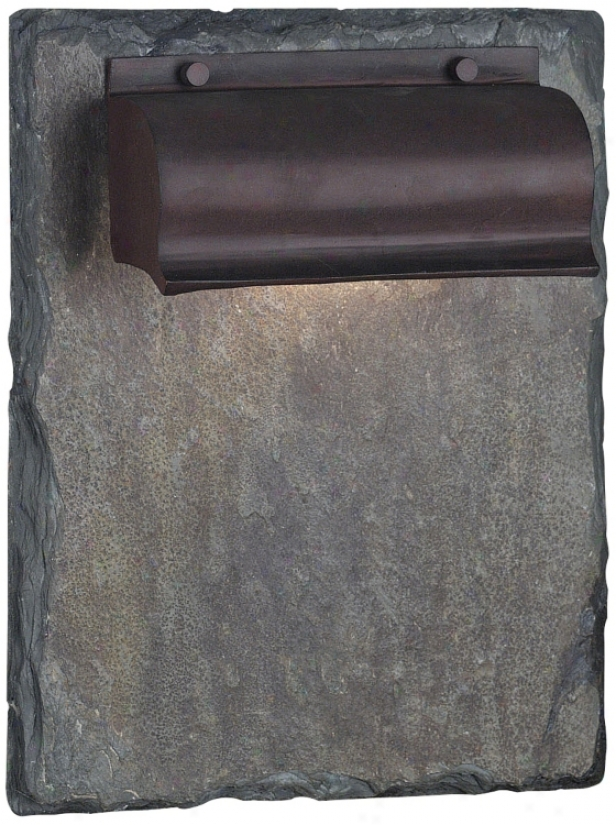 Retron Natural Slate And Copper 13&quo; High Outdoor Wall Light (j7572)