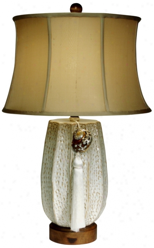 Returning Tide Ceramic Table Lamp From The Essential Light (f9401)
