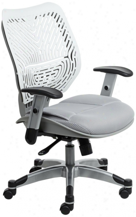 Revv All White Spaceflex® Back Office Chair (v3638)