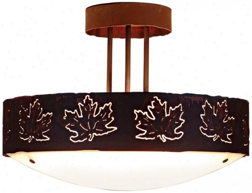 "Ricgecrest Collection Maple Leaf 17"" Wide Ceiling Light (j0564)"