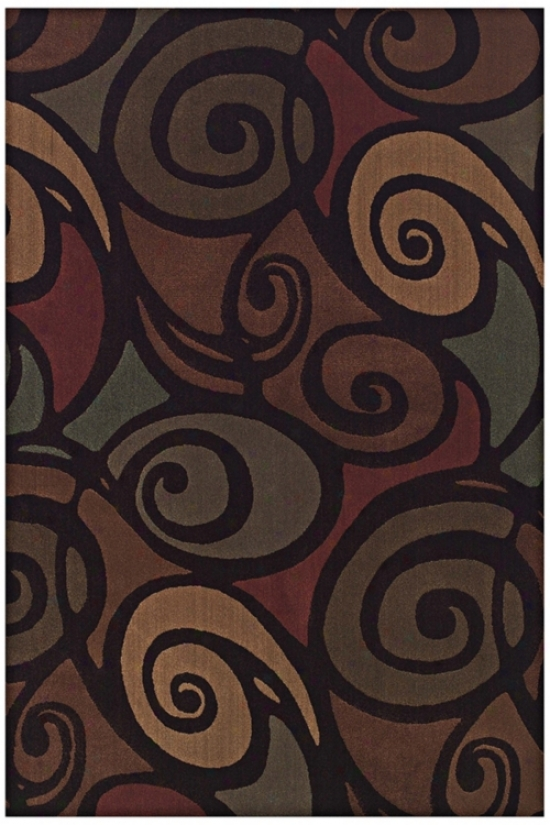 "Ringlets Brown Multi 7' 10""x10' 7"" Area Rug (j5995)"
