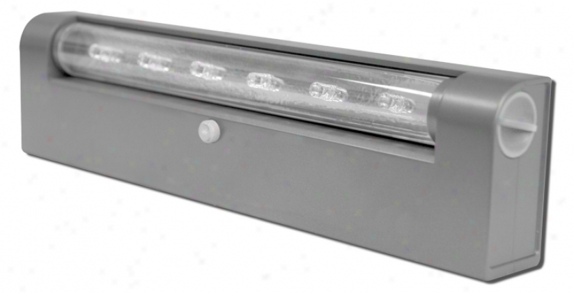 Rite Flower Battery Powered Grey Finish Under Cabinet Led (28214)