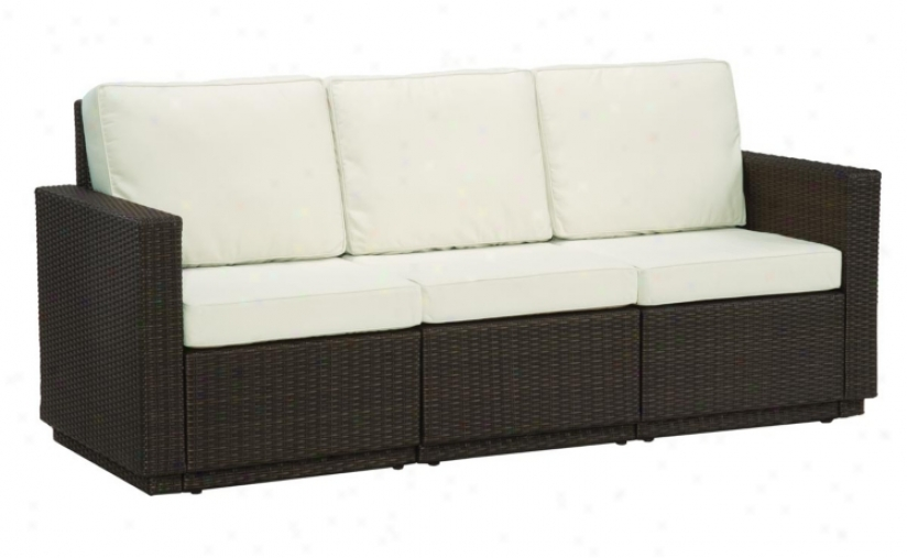 Riviera Brown Stone 3 Cushion Outdoor Sofz (t1326)