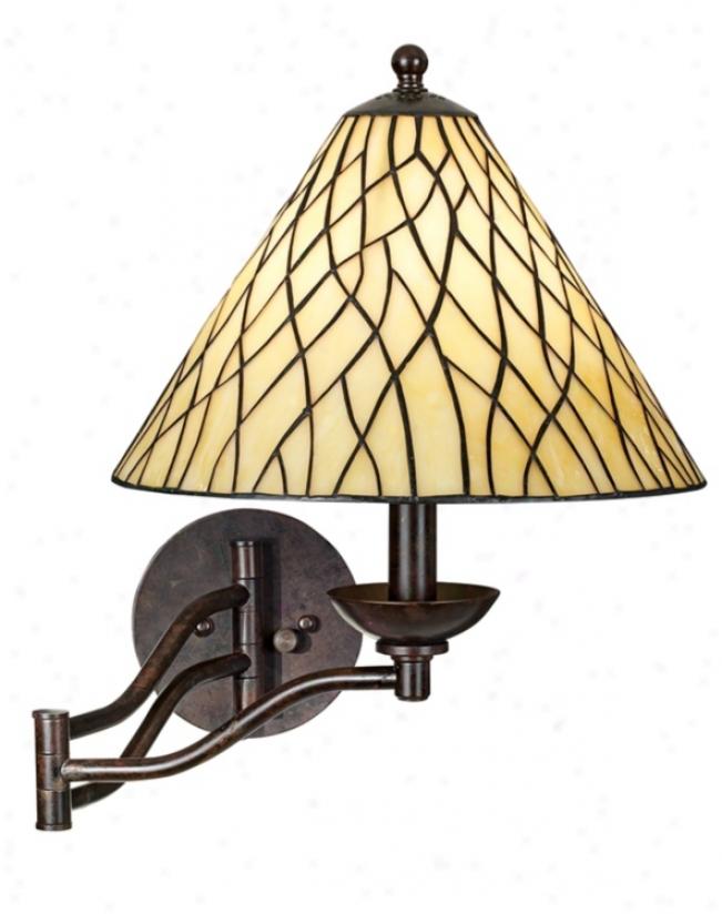 Robert Louis Tiffany® Iron Vine Swing Arm Wall Lamp (50695)