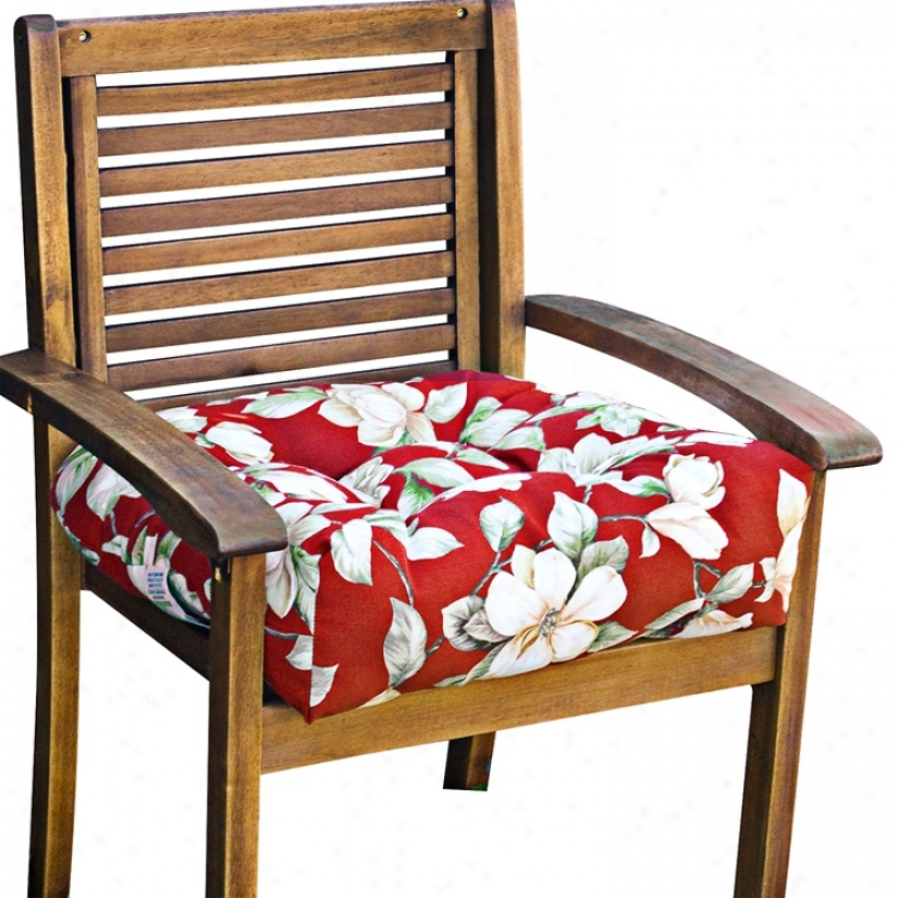 """Roma Floal 20"""" Square Outdoor Chair Cushion (w6245)"""