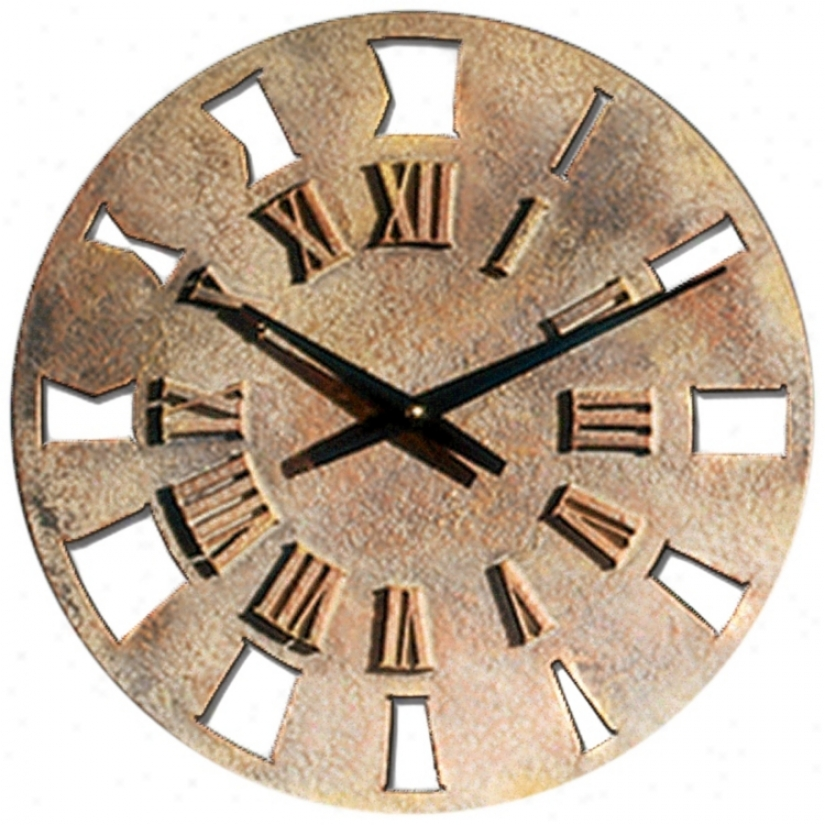 "Roman Numerals 14"" Wide Battery Powered Wall Clock (m0282)"