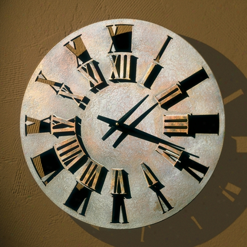 "Roman Numerals 22"" Wide Battery Powered Wall Clock (m0268)"