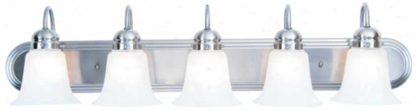 "Ronan Accumulation Nickel 36"" Wife Bathroom Ljght Fixture (61814-87743)"