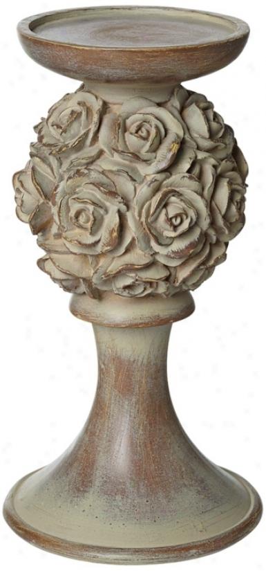 "Rosabella 8"" High Pillar Candleholder (u4201)"