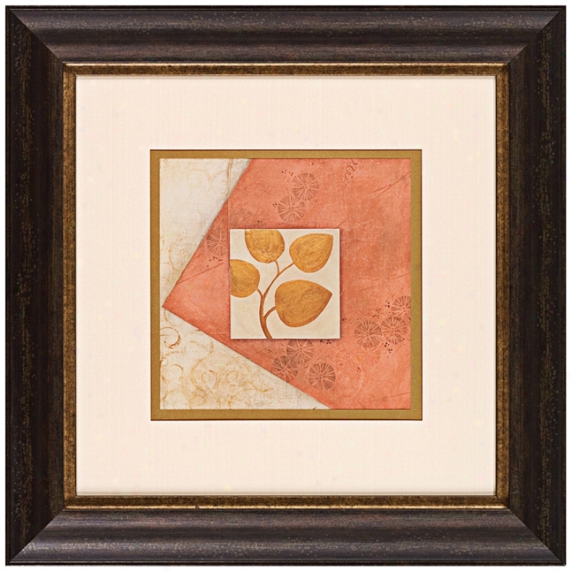 "Rose Leaves 26"" Square Wall Art (j5928)"