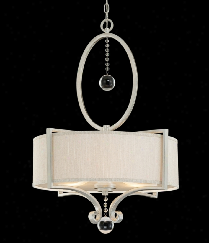 "Rosendal 32 1/2"" Profoundly Silver Sparkle Hanging appendage Light (t6000)"