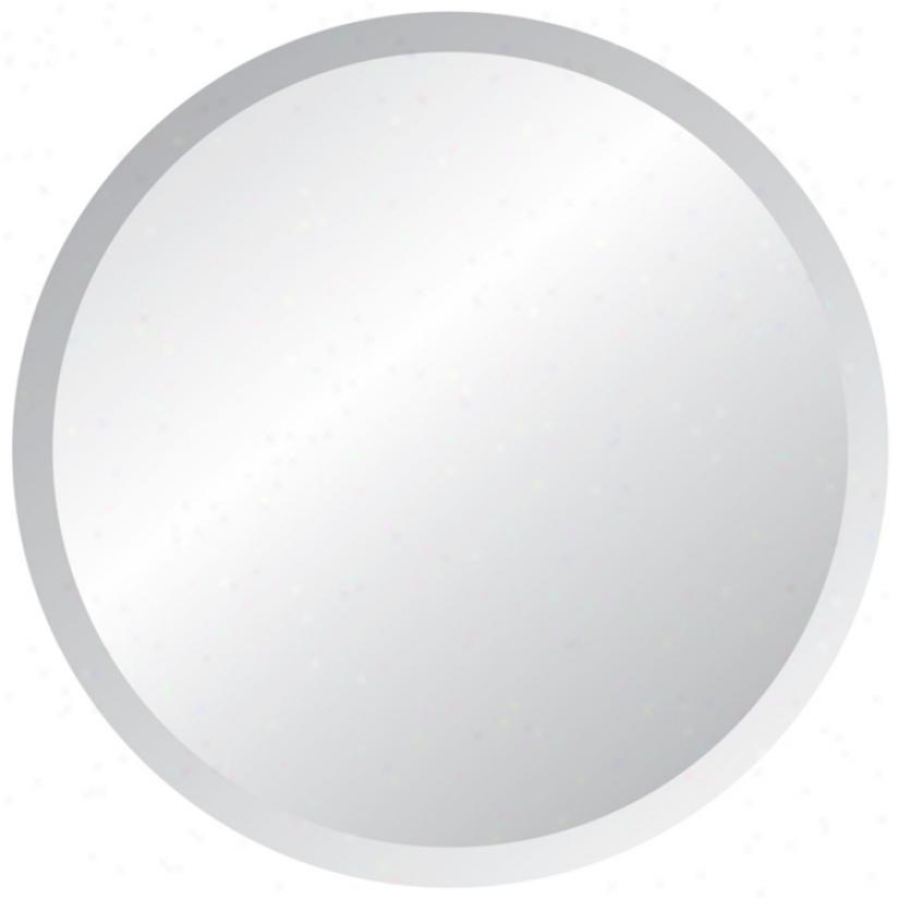 """Round Frameless 42"""" Wide Beveled Mirror (p1435)"""