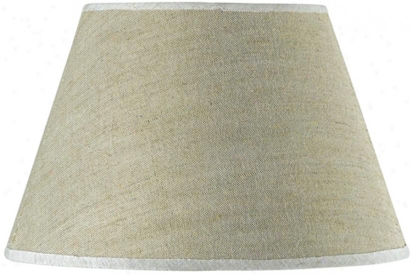 Round Taupe Linen Shade 10x17x11 (spider) (8540)
