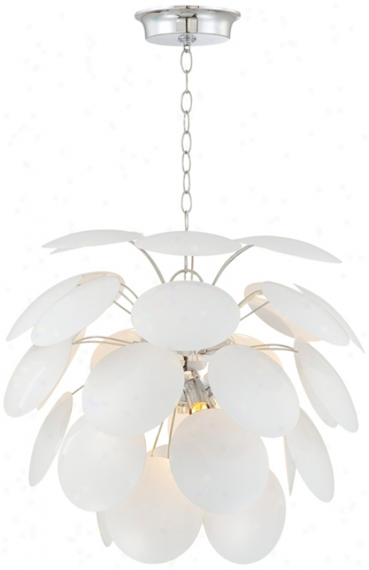 Round White Petals Contemporary Pendant Light (p4654)