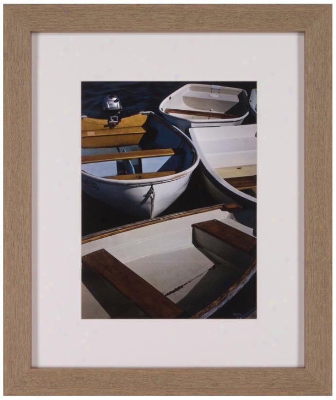 """Row Boats V 25"""" High Framed Wlal Art (t0235)"""