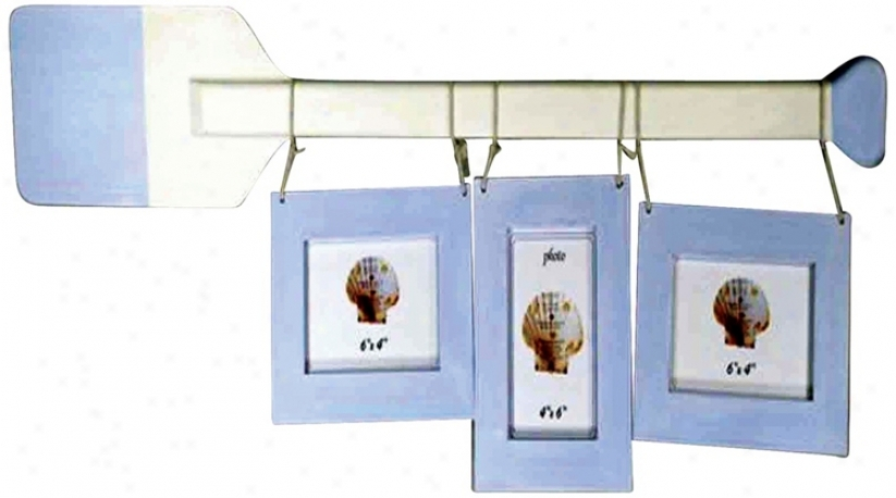 Rowboat Oar Wall Hanging Photo Frame (k1902)