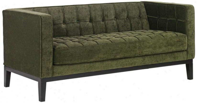 Roxbury Green Chenille Love Seat (t3929)