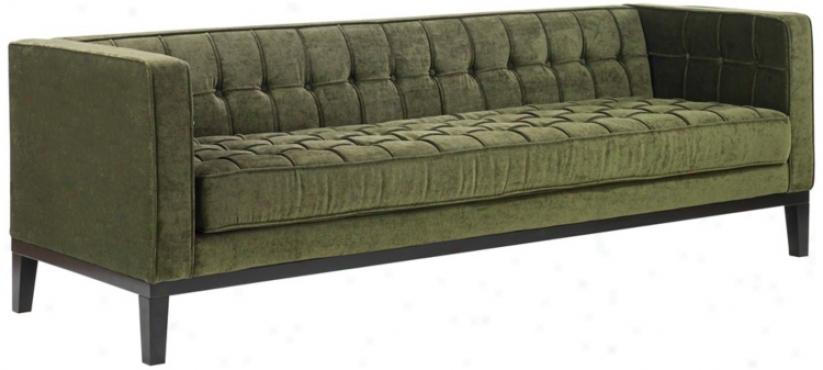 Roxbury Green Chenille Sofz (t3930)