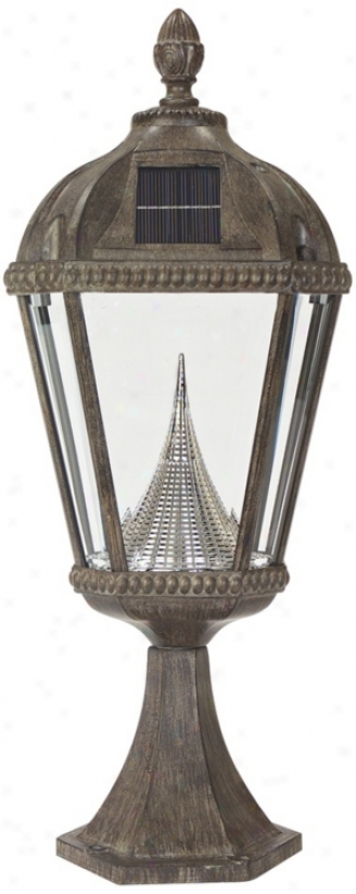 "Royal Solar Led Bronze 23"" High Outdoor Post Light (p9709)"