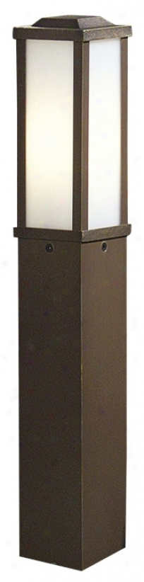 "Rustic Bronze Square Post 35 1/4"" High Path Light (m0864)"
