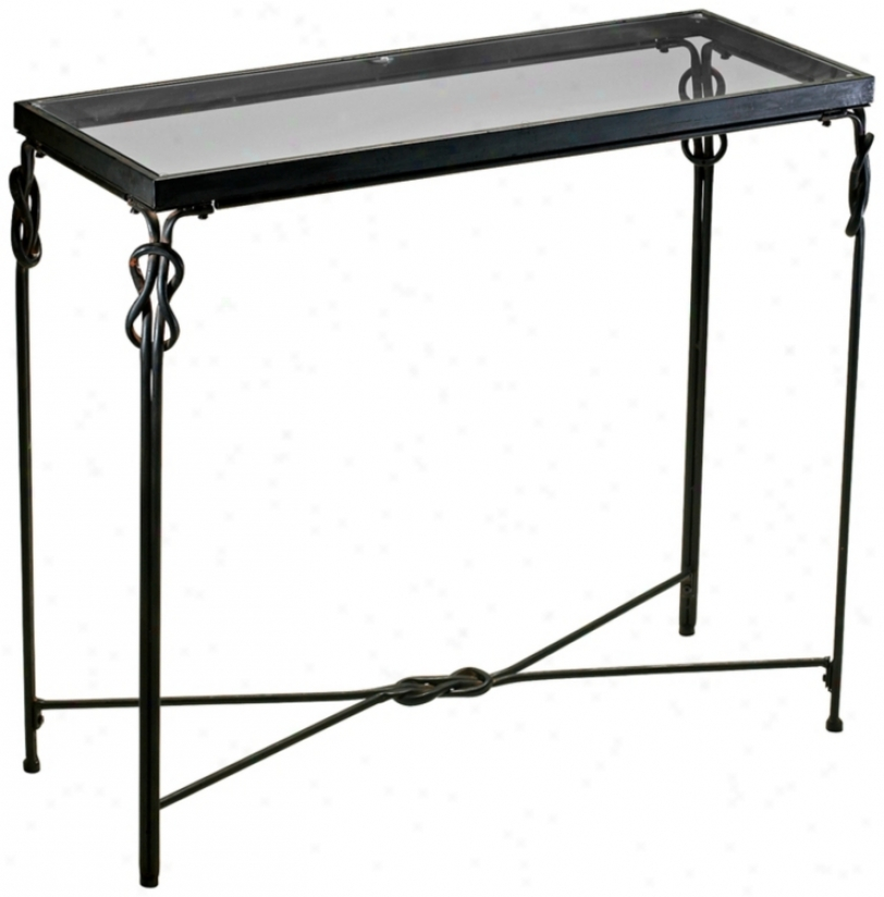 "Rustic Iron 36 1/4"" Wide Dupont Console Table (r1425)"