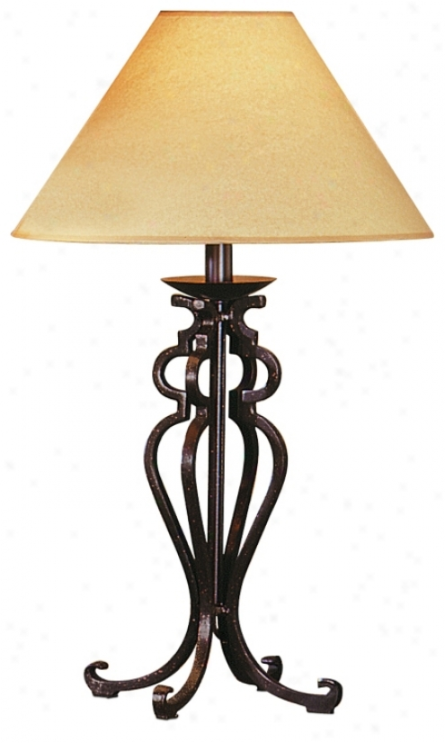 Rustic Wrought Iron Look Table Lamp (8853)