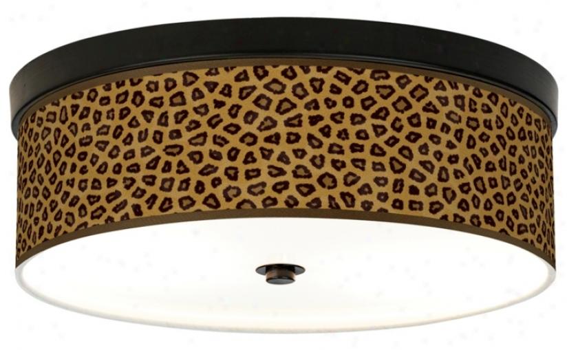 Safari Cheetah Giclee Energy Efficient Bronze Ceiling Light (h8795-r2339)