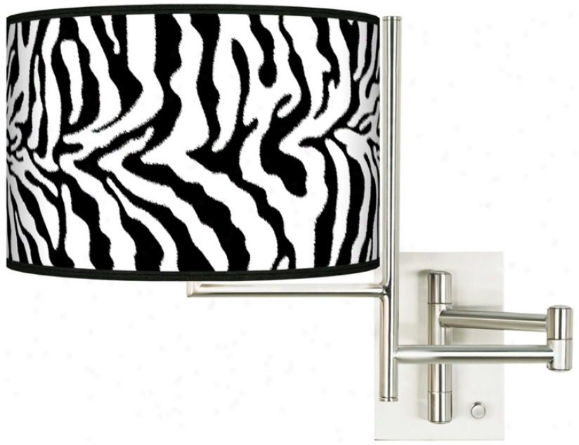 Safari Zebra Plug-in Swing Equip Wall Light (k1148-r2308)