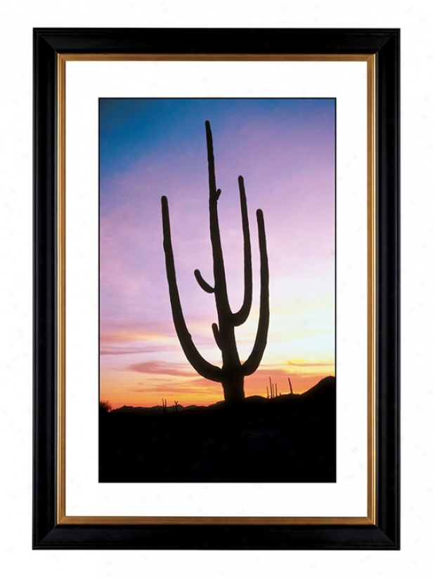 "Saguaro Cactus At Sunrise Giclee 41 3/8"" Wide Wall Art (55925-80384)"