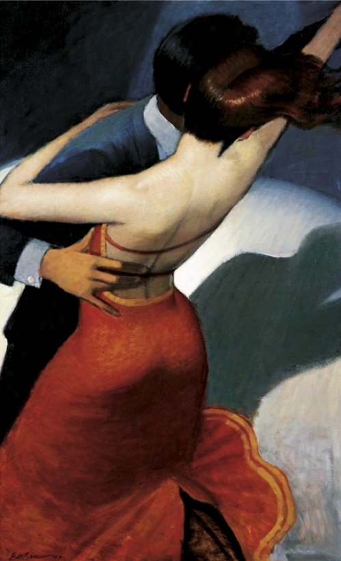 "Salsa Dancers Canvaa 30"" High Art Print (49371)"