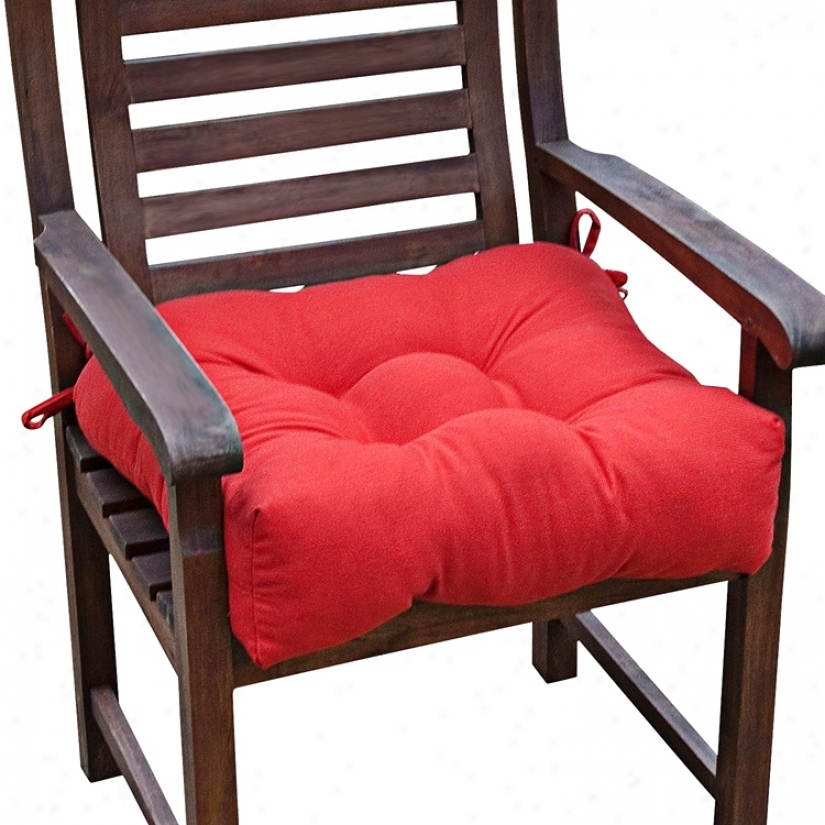 "Salsa Red 20"" Square Outdoor Chair Cushion (w6244)"