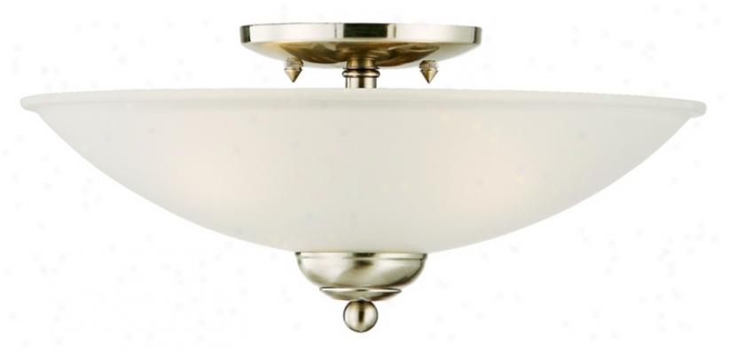 "San Dimas Collection Brushed Steel 14""_Wide Ceiling Light (32474)"