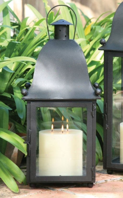 San Juan Lantern With Black Hand-forged Iron Finish (u7348)