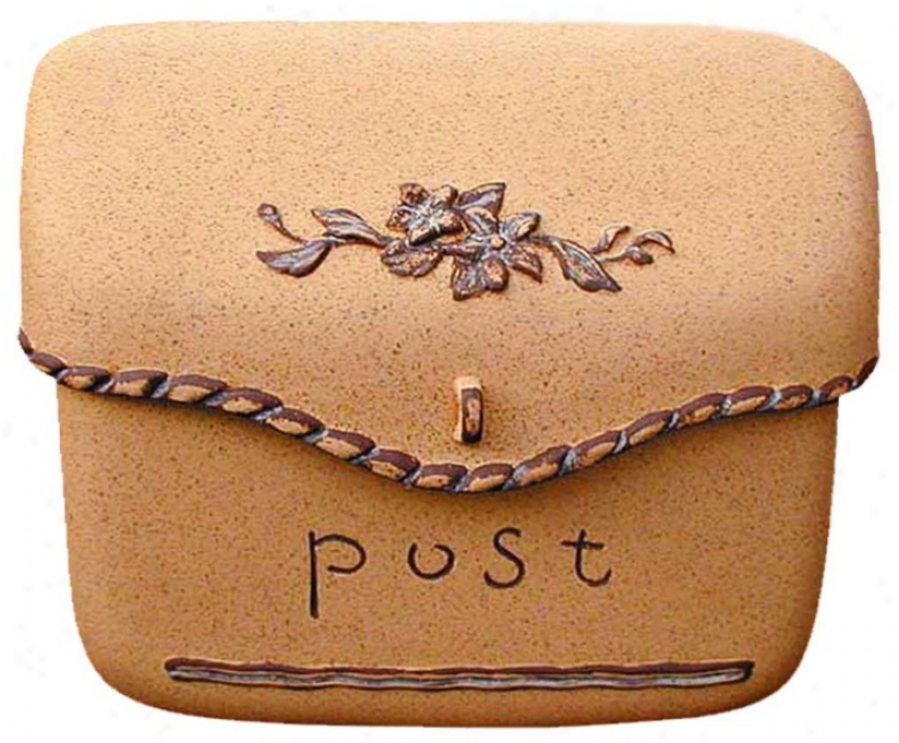 Sand Finish Bag Post Or Wallmount Mailbox (t6681)