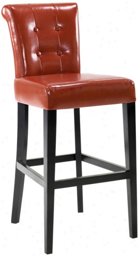 "Sangria Burnt Sienna Bicast Leather 30"" High Bar Stool (t4137)"