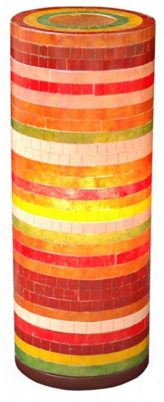 Santa Ana Mixed Color Fiberglass 21&quof; High Table Lamp (t8034)