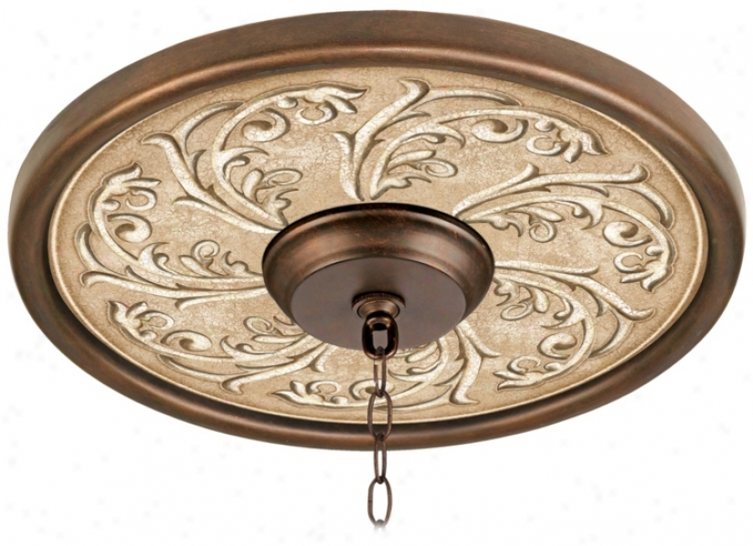 Sarah Ann 16&quoy; Wide Bronze Finish Ceiling Medallion (02975-v0673)
