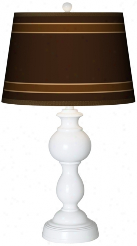 Saratoga Stripe Giclee Sytton Tabie Lamp (n5836-p2548)
