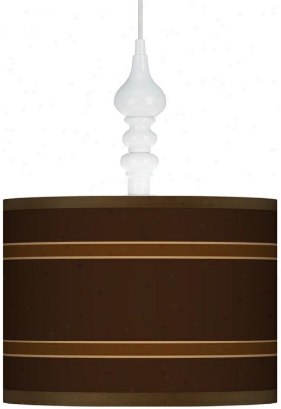 "Saratoga Stripe White 13 1/2"" Wide Swag Pennant (k3341-p2173)"