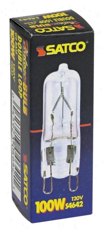 Satco 100-watts G9 120-volts Halogen Clear Light Bulb (38133)