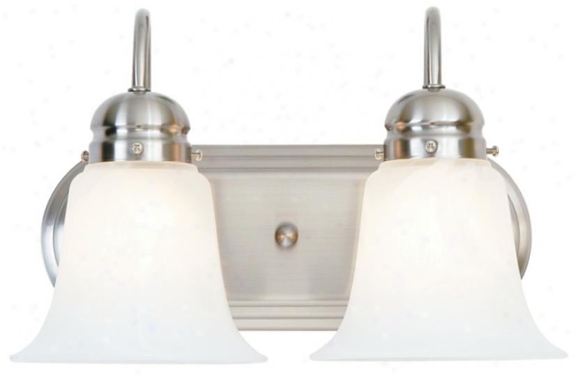 "Satin Nickwl 14"" Wide Bzthroom Light Fixture (61597-87743)"