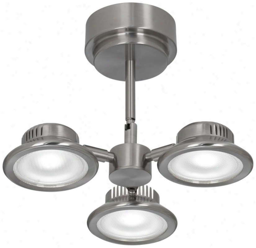 Satin Nickel 3-head Led Ceeiling Light Fixgure (u1156)