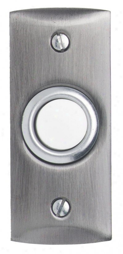 Satin Nickel Round Lighted Doorbell Button (k6263)