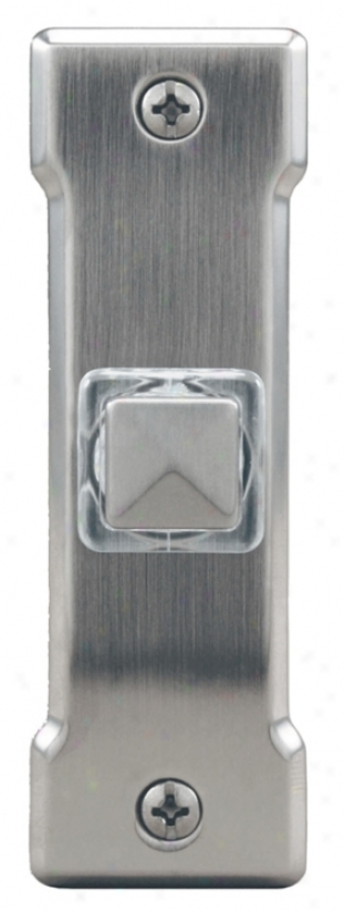 Satin Nickel Square Led Doorbell Button (k6258)