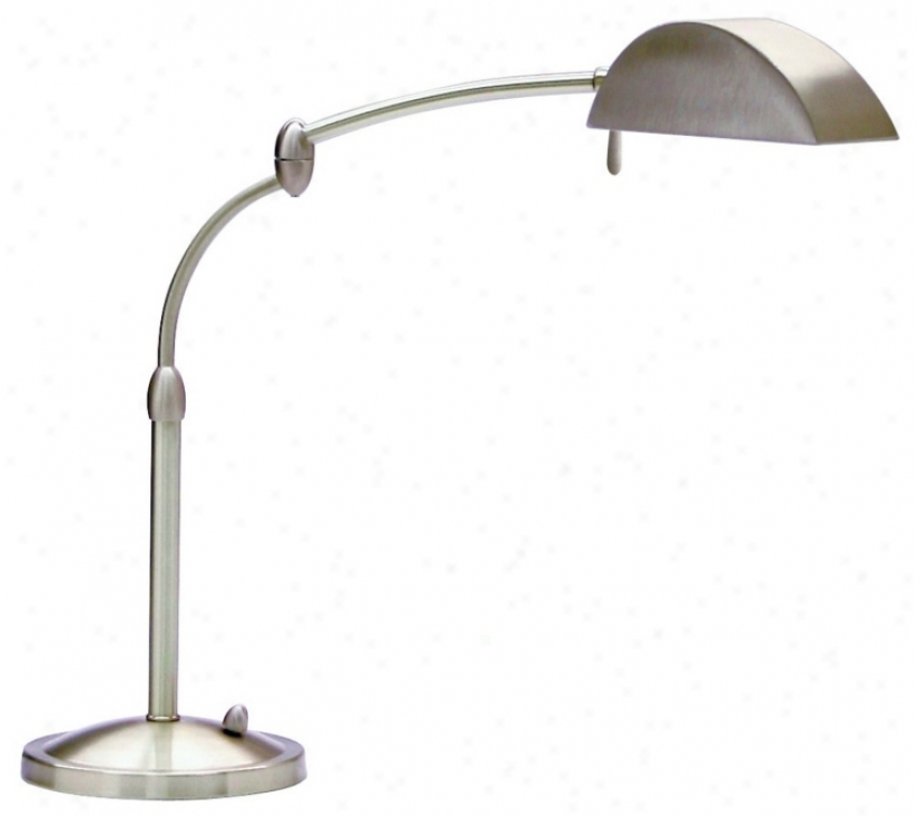 Satin Nickel Swing Arm Pharmwcy Desk Lamp (83690)