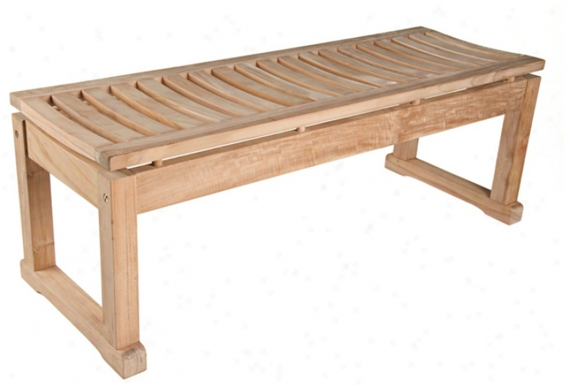 Savannah Backless 5 oFot  Wide Teak Wood  Bench (u1299)