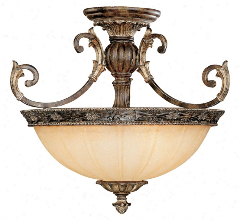 "Savoy House Grenada 24"" Wide Semiflush Ceiling Light (k1019)"