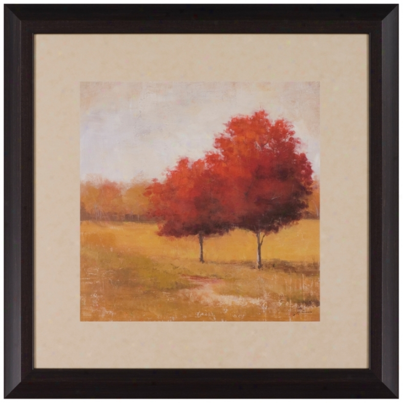 "Scarlet Meadow 29"" Square Framed Art Prnit (t0231)"
